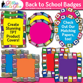 Back to School Frame Clip Art | Labels for Classroom Worksheets & Resources