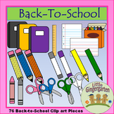 Back to School Supply Clip Art 76 images Blackline Masters