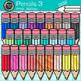 Back to School Supplies Clip Art Bundle {Crayons, Markers,