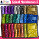 Back to School Supplies Clip Art Bundle {Notebook, Crayon, Ruler, & Folder} 2