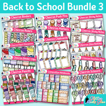Back to School Supplies Clip Art Bundle 3 {Glitter Meets Glue Designs}