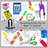 Back to School Supplies Clip Art bundle