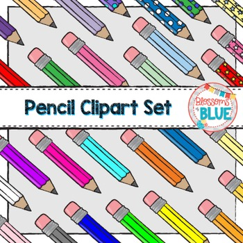 #JulyTpTClipLove Back to School Supplies Clipart Bundle