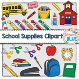 Back to School Supplies Clipart Bundle