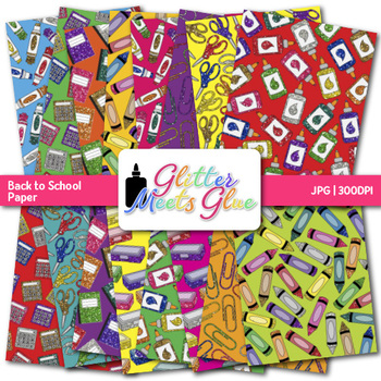 Back to School Paper {Scrapbook Backgrounds for Task Cards & Brag Tags}
