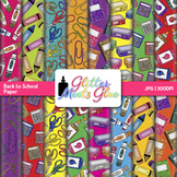 Back to School Scrapbook Paper Backgrounds {Glitter Meets Glue}