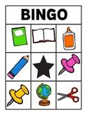 Back to School Supply Bingo