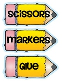Back to School Supply Labels for the Classroom
