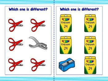 Back to School Supply Task Cards