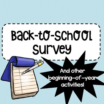 FREE Back to School Survey