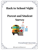 Back to School Survey - Moderate/Severe Classroom