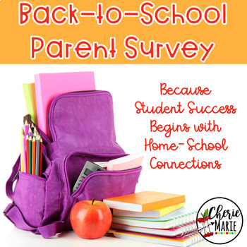 FREE Back to School - Survey for Parents