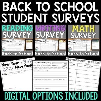 Back to School Surveys BUNDLE