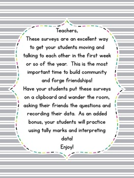 Back to School Surveys: Building Classroom Community