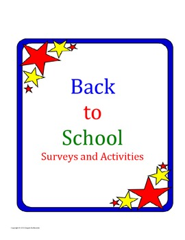 Back to School Surveys and Activities