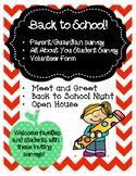 Back to School!  Surveys for Parent / Guardian, Students a