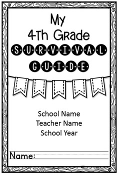 Back to School Survival Guide (Editable)