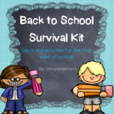 Back to School Survival Kit - Ideas for the Beginning of t
