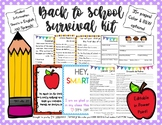 Teacher Back to School Survival Kit - Editable in Power Point!