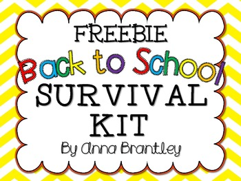 Back to School Survival Kit Tags {Freebie}