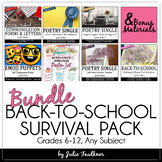 Back-to-School BUNDLE for the First Days of School, Middle/High, Any Subject