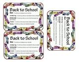 Back to School Survival Kit - Shortened Version