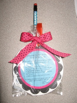 Back to School Survival Kit Square Gift Tags