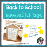 Back to School Survival Kit Tags