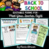 "Back to School Forms and Survival Kit for ""Meet Your Teach"