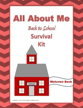 All About Me Activities Back to School Survival Kit