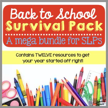 Back to School Survival Pack: A Mega Bundle for SLPs