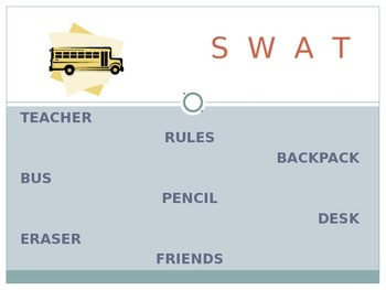 A Back to School Swat Game