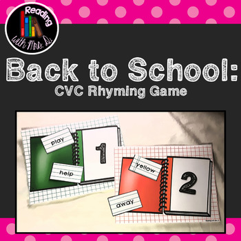 Back to School Syllable Dolch Sorting Card Game