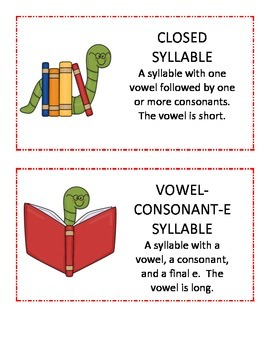 Back to School Syllable Review