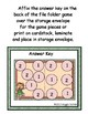 Back to School Syllables File Folder Game