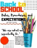 Back to School Syllabus & Procedures PPT