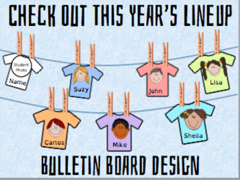 "Back to School T-Shirt Bulletin ""Check Out This Year's Lineup"""