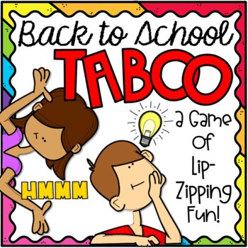 TABOO Back to School Game