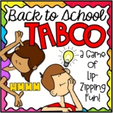TABOO Back to School Game | Back to School Activity