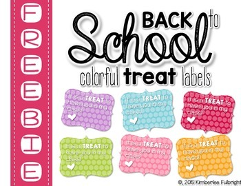 Back to School TREAT Note Cards Freebie