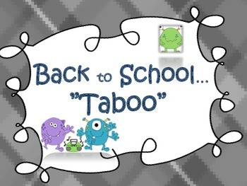 Back to School {Taboo}