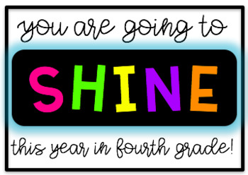 Back to School Tags - Colorful and Black & White!
