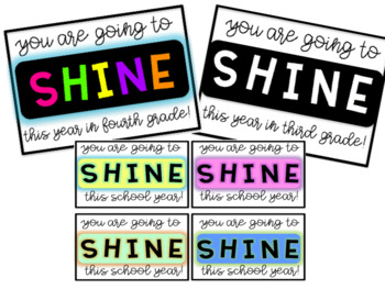 Back to School Tags - Neon, Pastels, and Black & White!