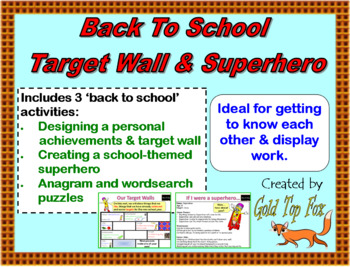 Back to School Target Wall and Superhero