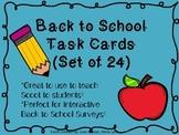 Back to School Task Card Freebie