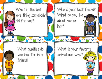 "Back to School Task Cards - 60 ""Getting to Know You"" Cards"