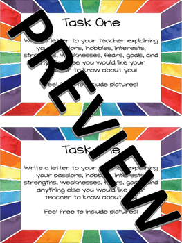 Back to School Task Cards - ANY Subject, GREAT for Interactive Notebooks