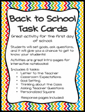 Back to School Task Cards - ANY Subject, GREAT for Interac