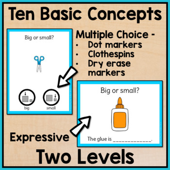 Back to School Task Cards: Basic Concepts for Special Education and Autism