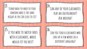 Back to School Task Cards (Class Introductions) l First Day of School